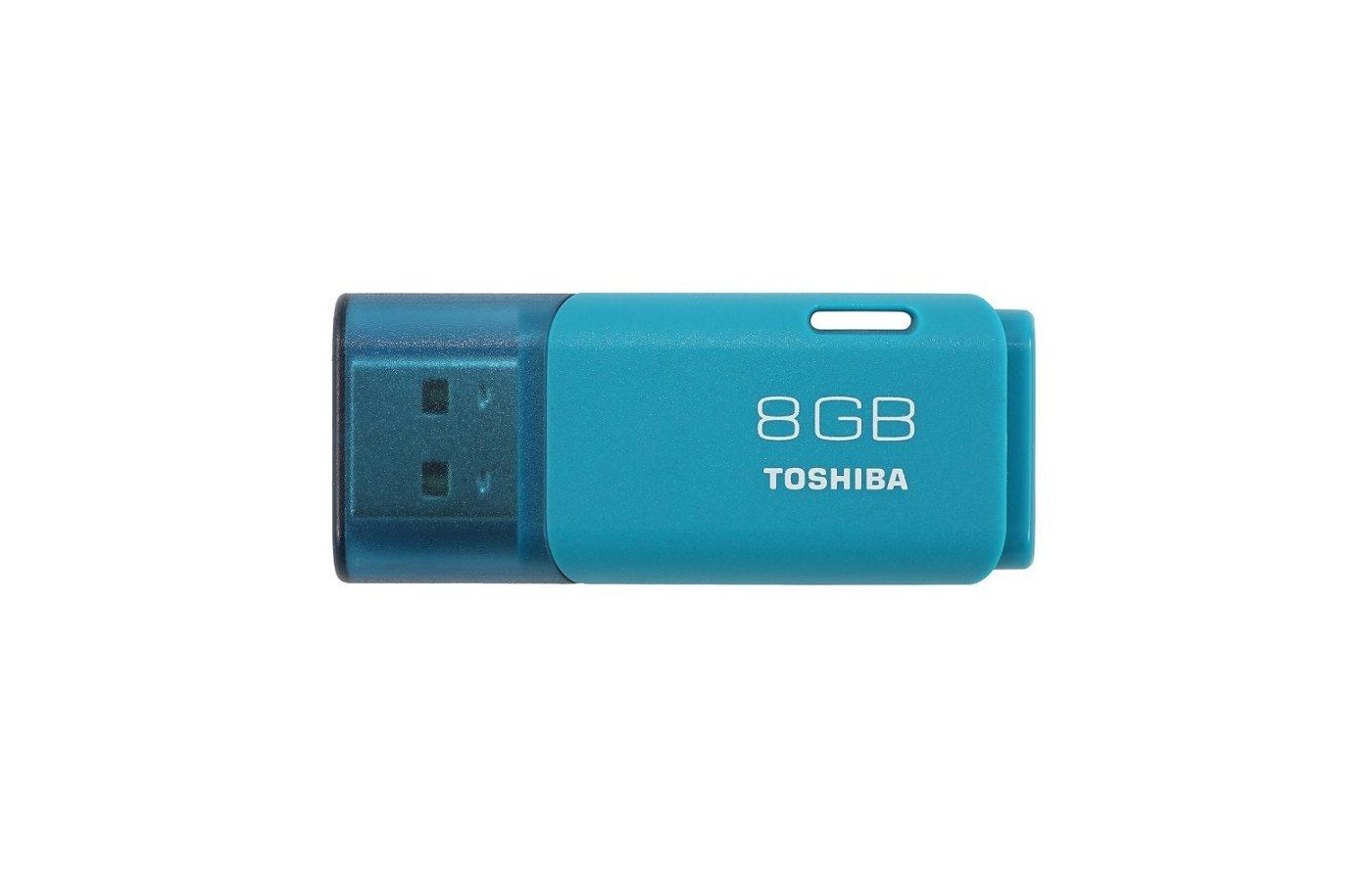 Флеш-диск USB 2.0 Toshiba 8Gb TransMemory Hayabusa THN-U202L0080E4 голубой