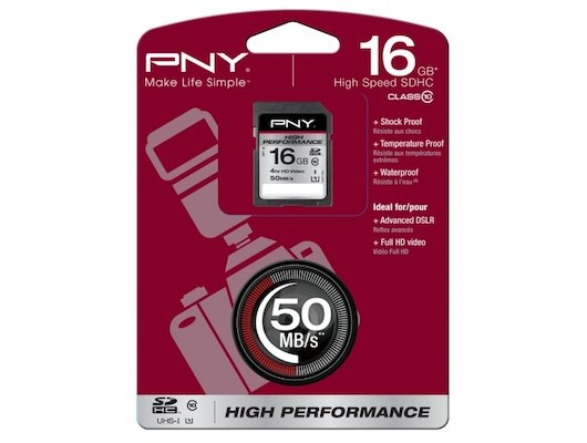 Карта памяти PNY SDHC 16Gb Class 10 UHS-I High Performance r80/w40