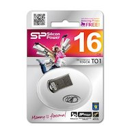 Фото Флеш-диск Silicon Power 16Gb Touch T01 SP016GBUF2T01V1K USB2.0 черный/серебристый