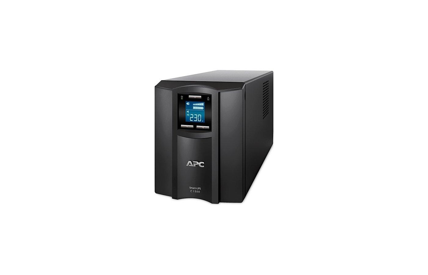 Блок питания APC Smart-UPS SMC1500I-2U 1500VA черный Входной 230V/Выход 230V USB 2U LCD