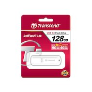 Фото Флеш-диск Transcend 128Gb Jetflash 730 TS128GJF730 USB3.0 белый