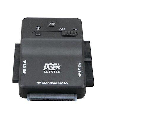 """Корпус для жесткого диска AgeStar Адаптер-переходник для HDD 2.5""""/3.5"""" 3FBCP1 черный"""