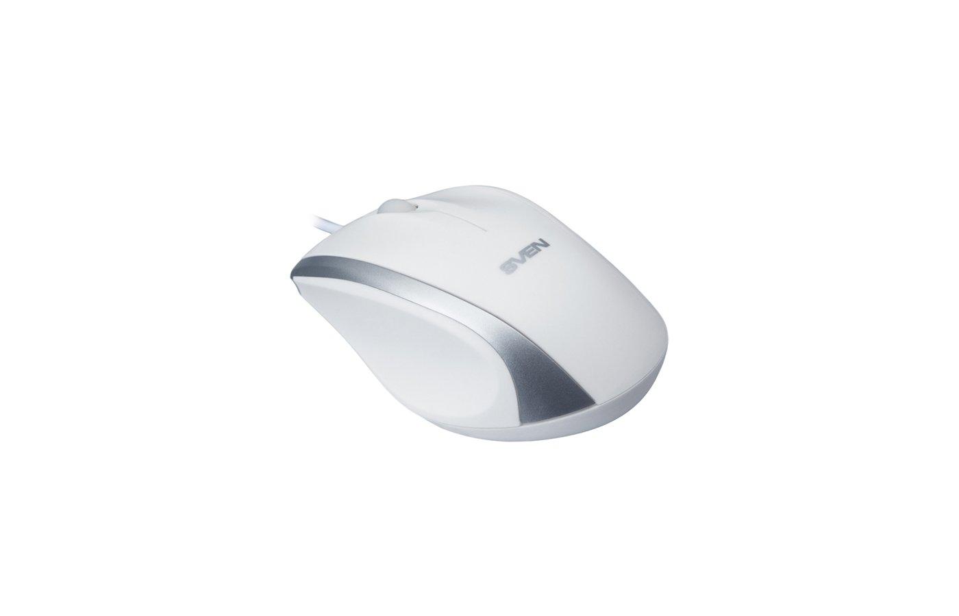 Мышь проводная SVEN RX-180 белая