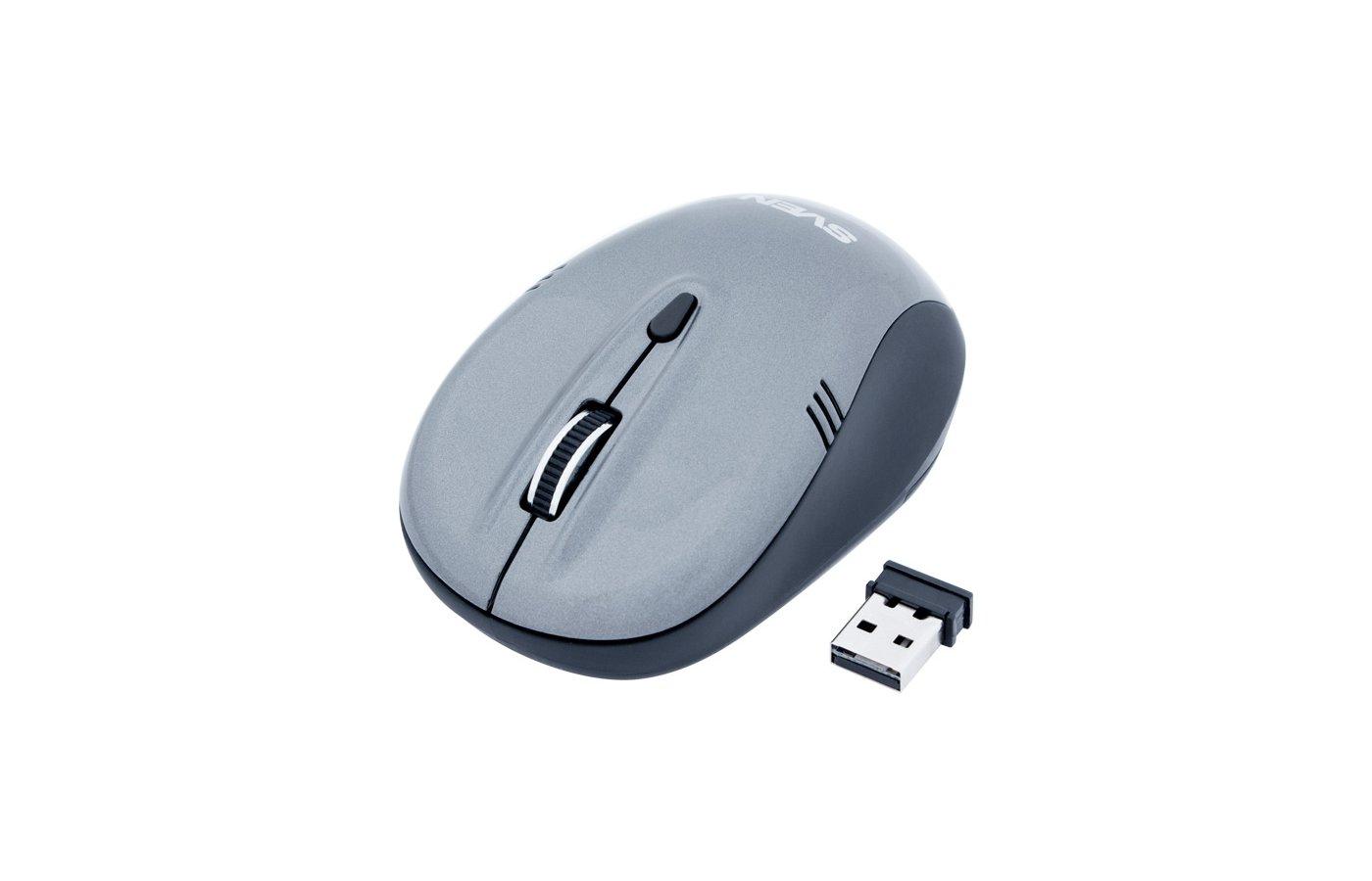 Мышь беспроводная SVEN RX-330 Wireless серая