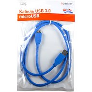 Фото Кабель Partner USB 3.0 - microUSB HDD (1м.) (ПР032047)