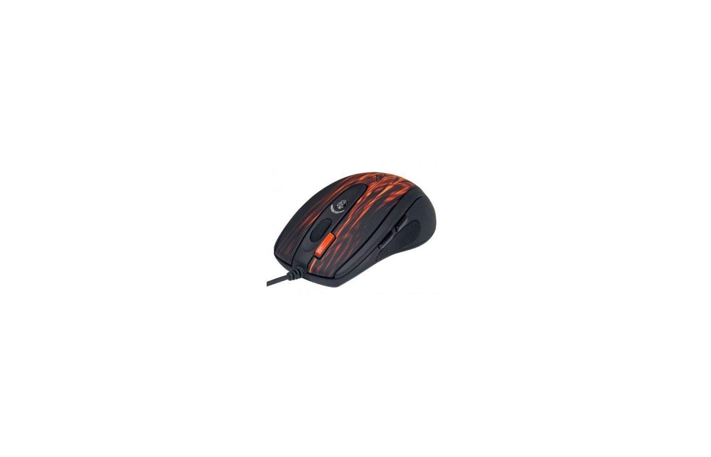 Мышь проводная A4Tech XL-750BK USB (red fire) Laser