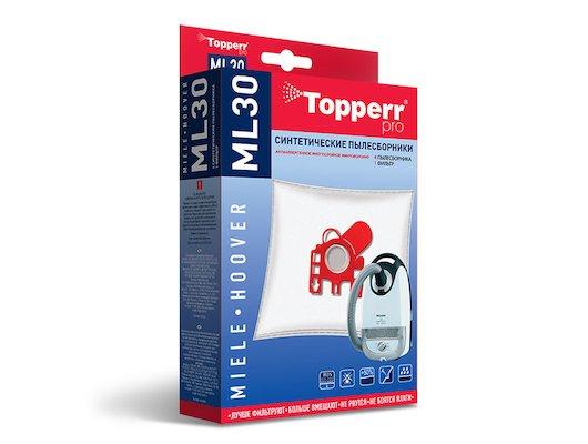 Пылесборники TOPPERR 1410 ML30 (4 шт. антиаллиргенные +фильтр) д/пылесосов MIELE HOOVER