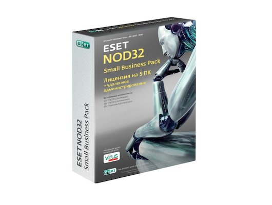 Компьютерное ПО Базовая лицензия Eset NOD32 Small Business Pack newsale for 5 user (NOD32-SBP-NS(CARD)-1-5)