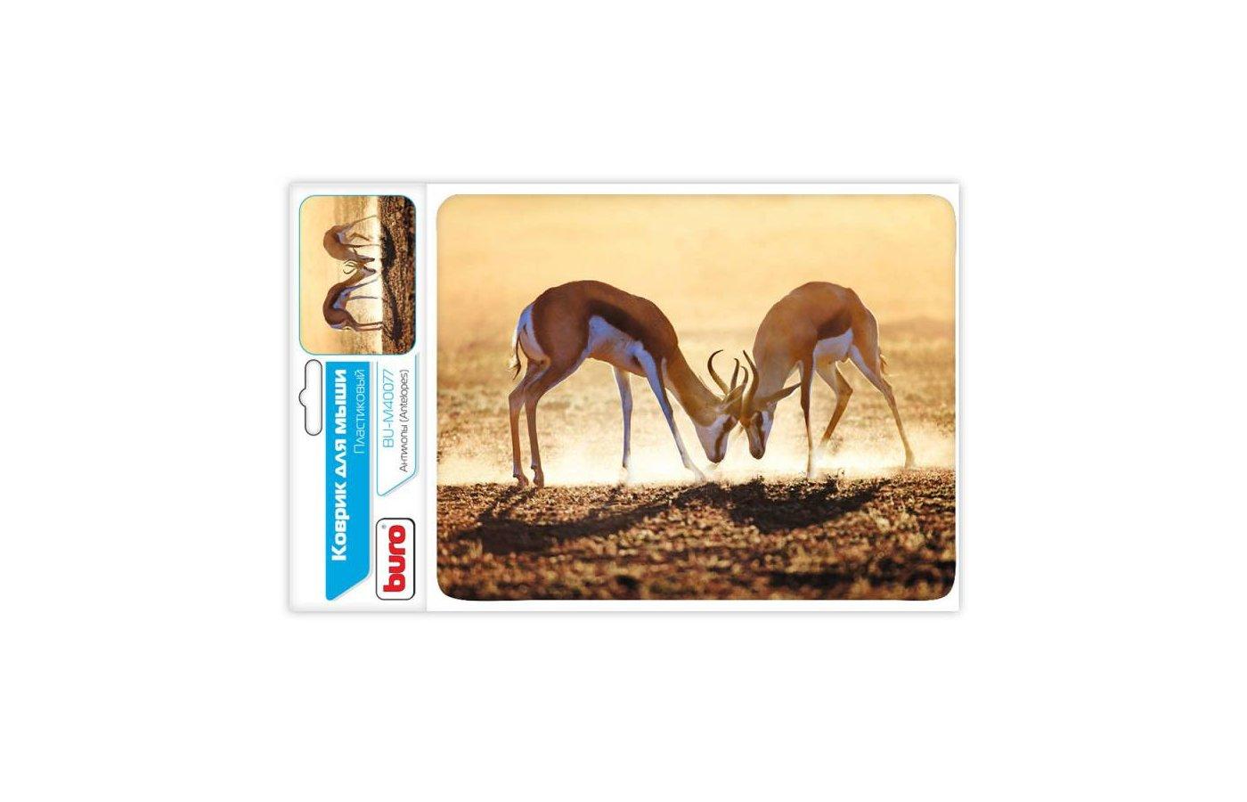Коврик для мыши BURO BU-M40077 рисунок/антилопы