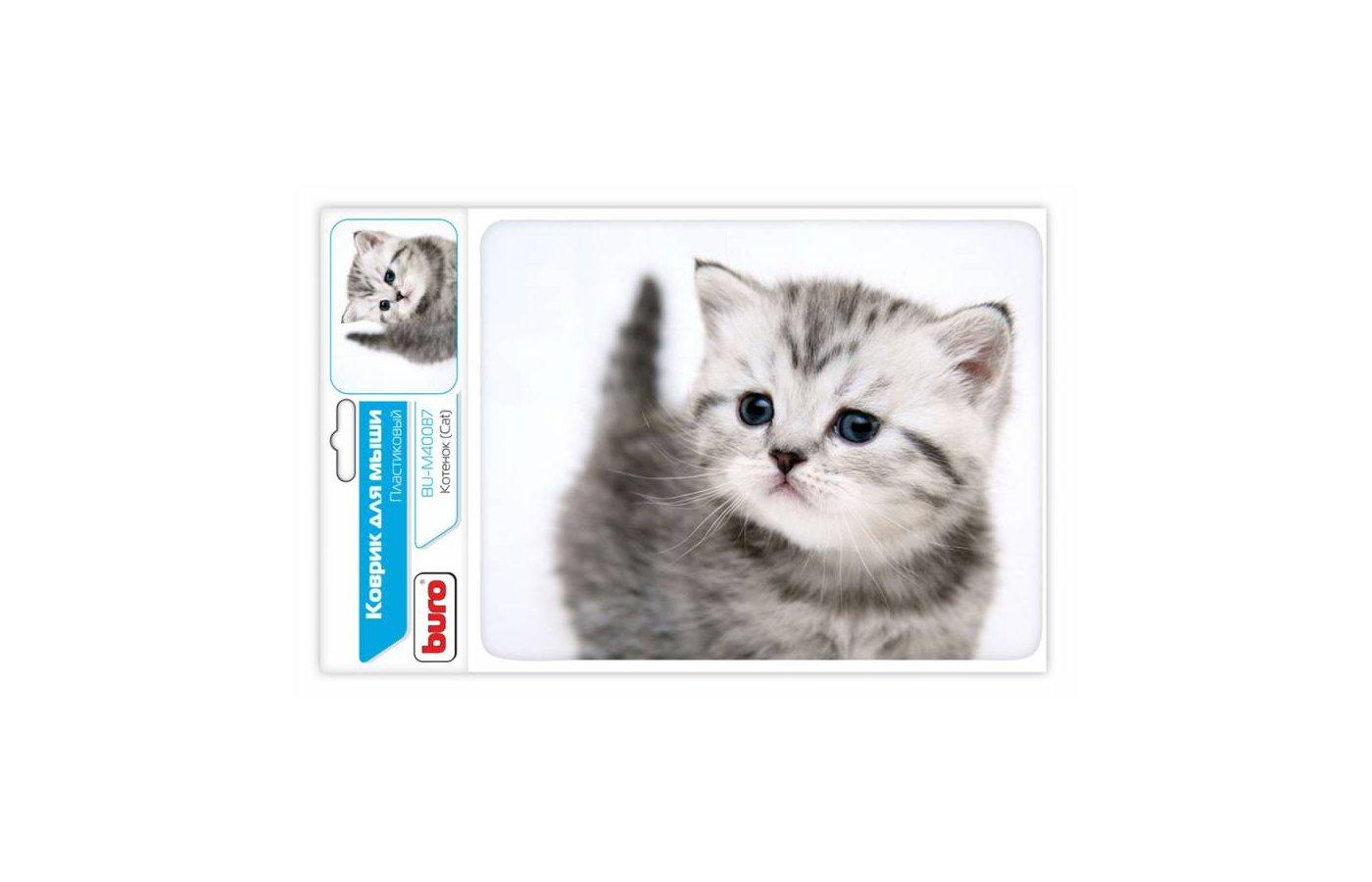 Коврик для мыши BURO BU-M40087 рисунок/котенок