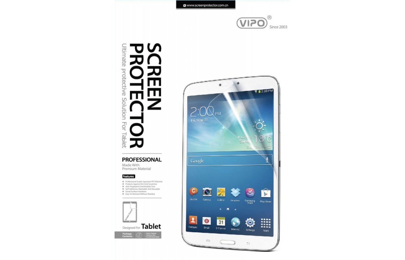 "Защитная пленка Vipo для Galaxy Tab III 8"" matte"