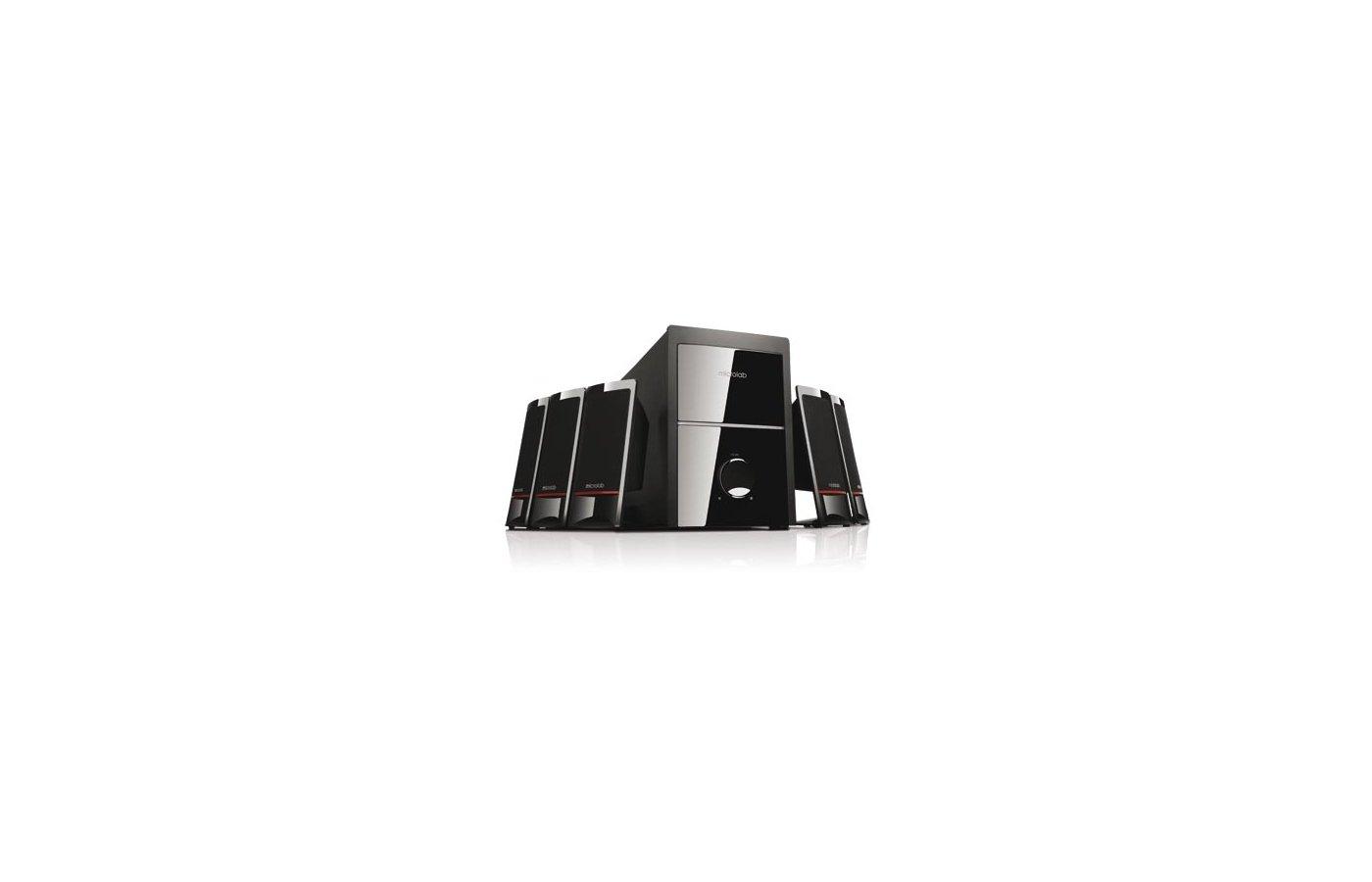 Компьютерные колонки Microlab M700 5.1 черный 62Вт