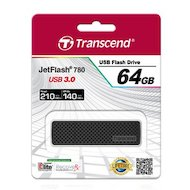Фото Флеш-диск Transcend 64Gb Jetflash 780 TS64GJF780 USB3.0 черный/серый