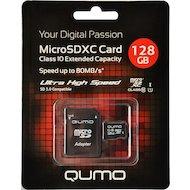 Фото Карта памяти QUMO microSDXC 128Gb Сlass 10 UHS-I + адаптер