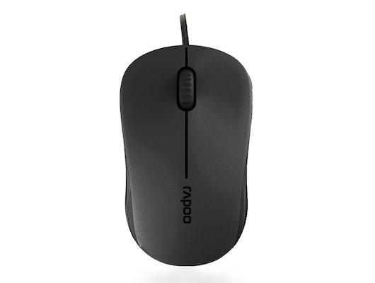 Мышь проводная Rapoo N1130 черный оптическая (1000dpi) USB2.0 (2but)