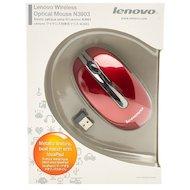 Мышь беспроводная Lenovo N3903 красный