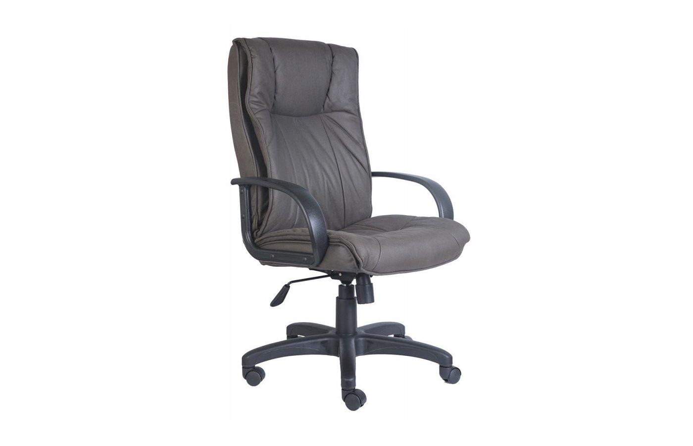 Кресло руководителя Бюрократ CH-838AXSN/F4 темно-серый F4 нубук