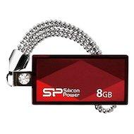 Флеш-диск USB 2.0 Silicon Power 8Gb Touch 810 SP008GBUF2810V1R красный