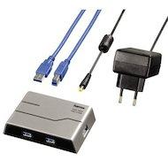 Фото Разветвитель USB 3.0 Hama SuperSpeedActive(39879) портов 4 серебристый