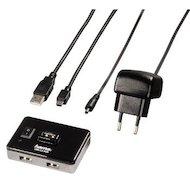 Разветвитель USB 2.0 Hama Switch4Active(54570) портов 4 черный