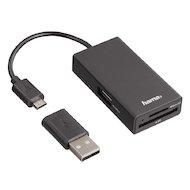 Разветвитель USB 2.0 Hama OTG Hub/Card/microUSB портов 2 черный