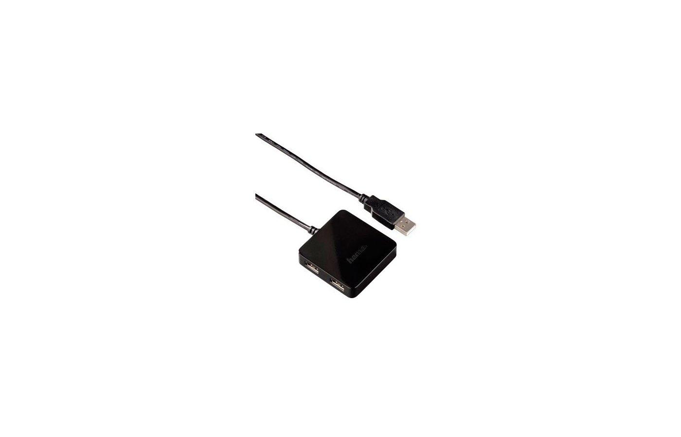 Разветвитель USB 2.0 Hama Square1 4(12131) портов 4 чёрный