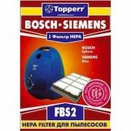 Фильтр для пылесоса TOPPERR 1102 FBS2 Hepa д/пылесосов BOSCH 1 шт.в уп.