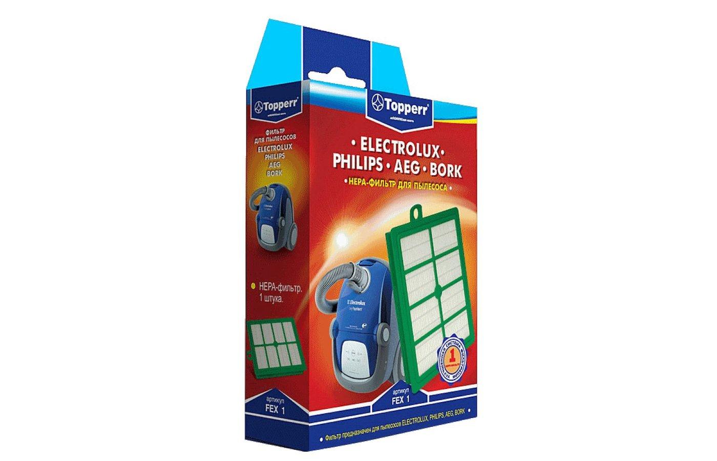 Фильтр для пылесоса TOPPERR 1104 FEX 1 Hepa Filter д/пылесоса Electrolux Philips H12 1 шт.в ед.