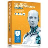 Фото Компьютерное ПО Eset NOD32 Smart Security Family - лицензия на 1 год на 5ПК (NOD32-ESM-NS(BOX)-1-5)