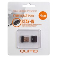 Флеш-диск USB 2.0 QUMO 4GB Nano Black