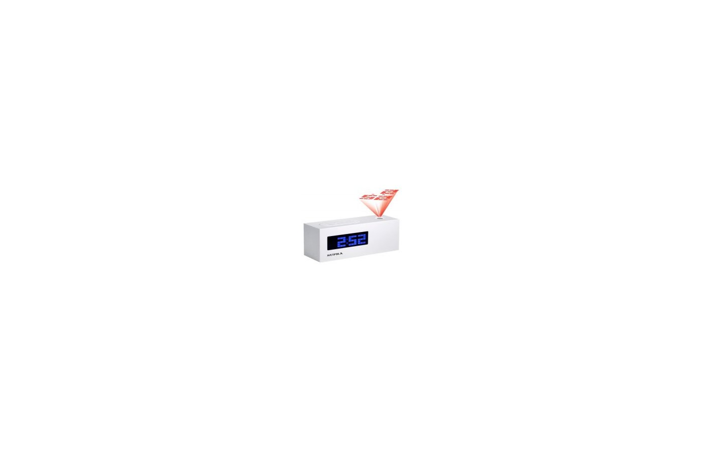 Настольные часы SUPRA SA-41FMP white/blue