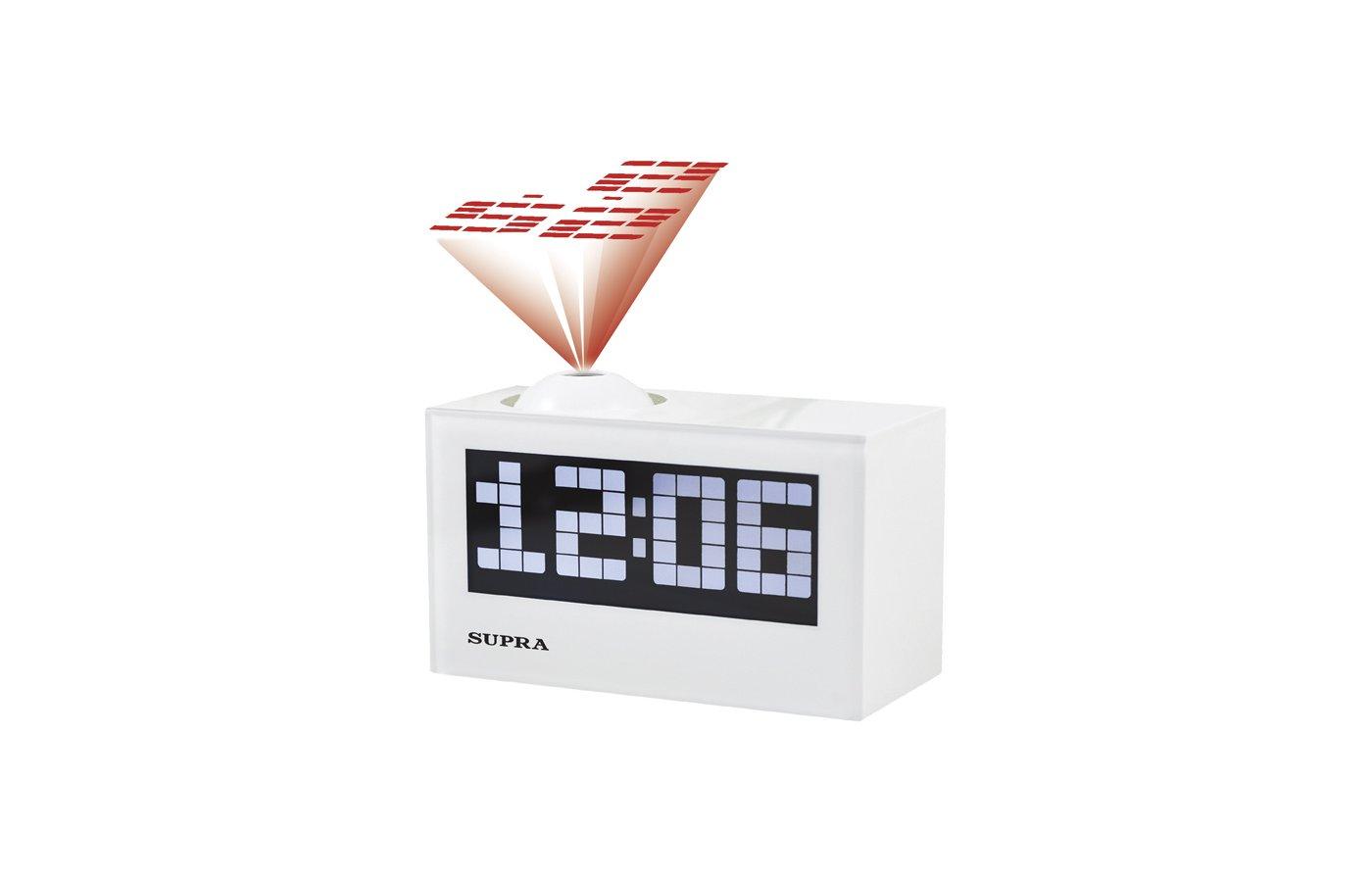 Настольные часы SUPRA SA-42FMP white/white