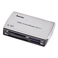 Картридер Hama H-49009 35в1 USB 2.0 серебристый