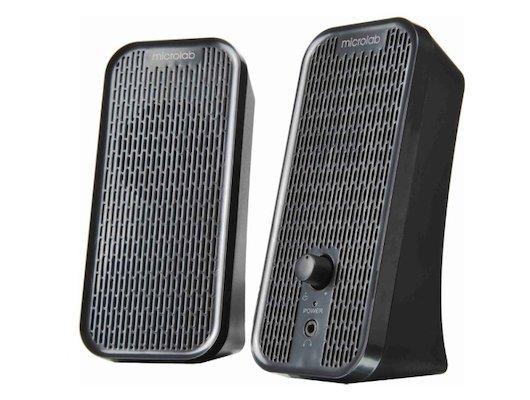 Компьютерные колонки Microlab B55 USB черные плоские (4W RMS)