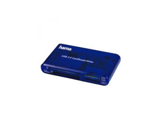 Картридер Hama H-55348 35в1 USB 2.0 поддерживает SDXC синий