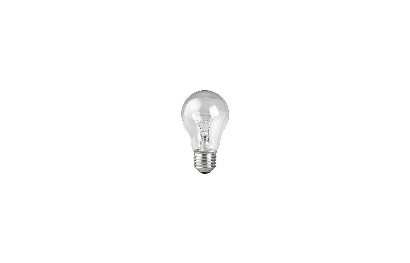 Лампочки накаливания ЭРА A55/А50-60-230-E27-CL Лампа накаливания