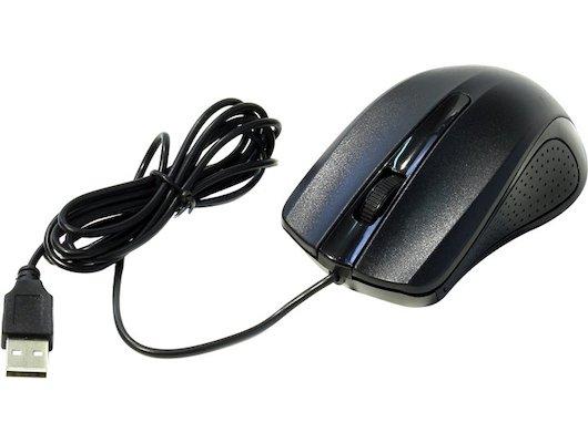 Мышь проводная Oklick 225M черный