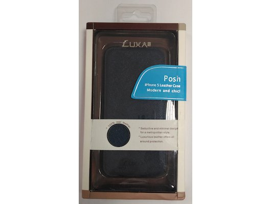 Чехол LUXA2 для iPhone 5/5S/SE Leather Blue (LHA0082-D)