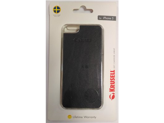 Чехол KRUSELL Donso для iPhone 5/5S/SE Black (KS-89729)
