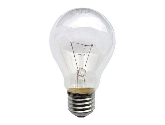 Лампочки накаливания ЭРА A50 60Вт 230-240V Е27 лон прозр. в гофре Лампа накаливания