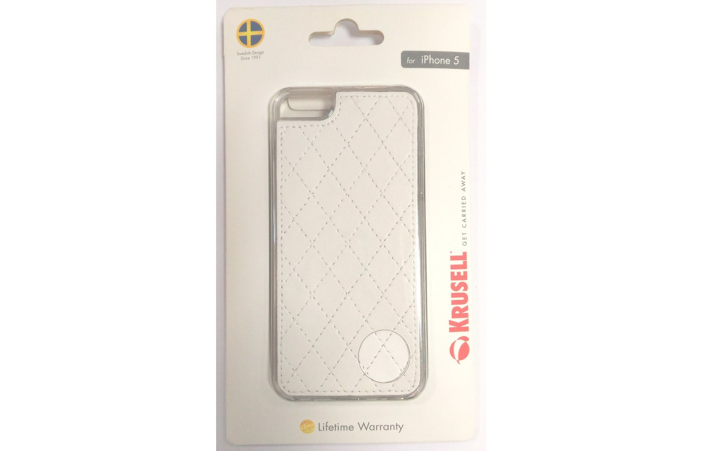 Чехол KRUSELL Avenyn для iPhone 5/5S/SE White (KS-89727)