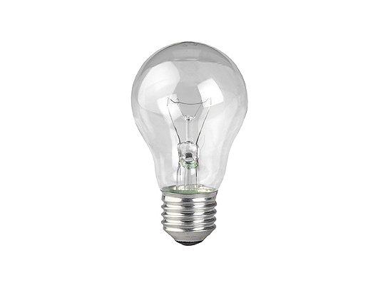 Лампочки накаливания ЭРА A55/А50-75-230-E27-CL Лампа накаливания