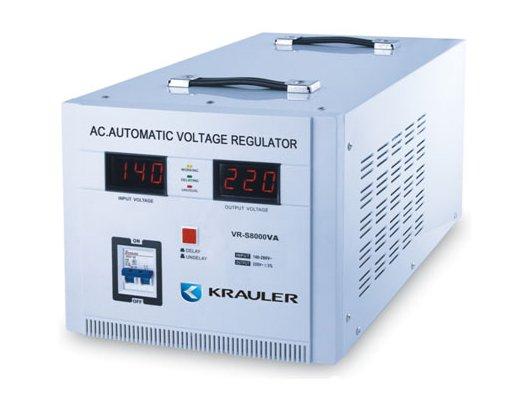 Стабилизатор напряжения Krauler AVR VR-S8000VA электромеханического типа белый
