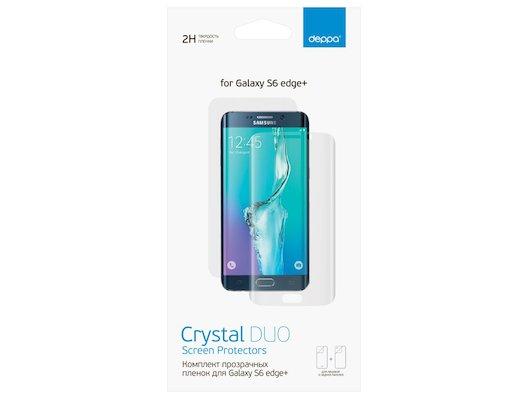 Стекло Deppa пленка для Samsung Galaxy S6 Edge+ (SM-G928) (Front/Back) формованная прозрачная
