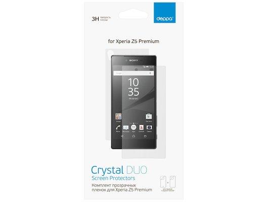 Стекло Deppa пленка для Sony Xperia Z5 Premium (Front/Back) прозрачная