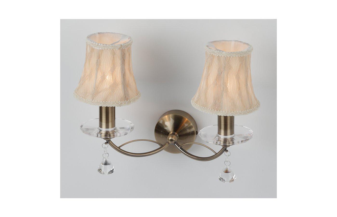 Декоративный светильник Rivoli Emma-W-2XE14-60W-Antique brass