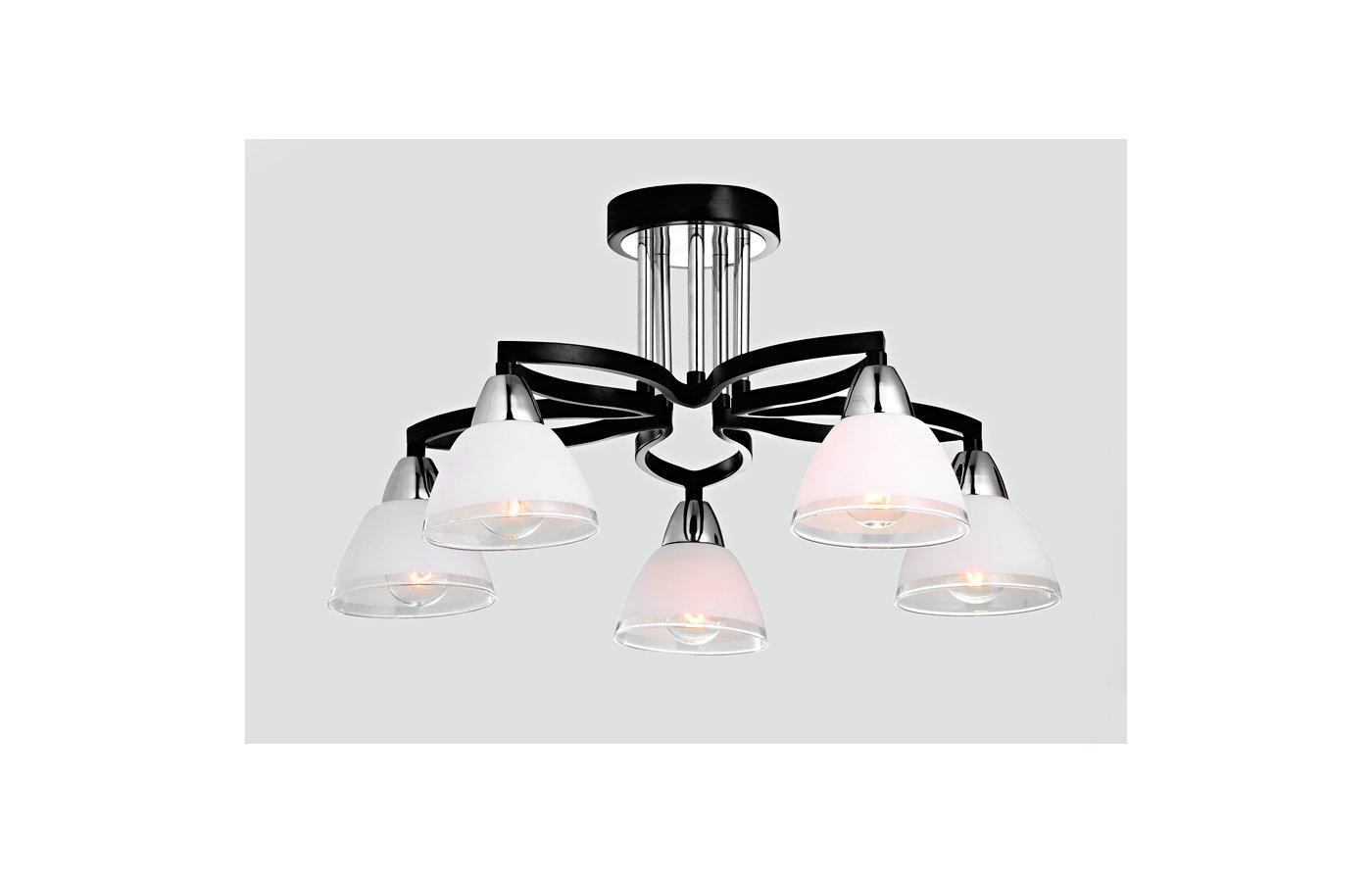 Декоративный светильник Rivoli Lucina-C-5xE14-40W-Chrome