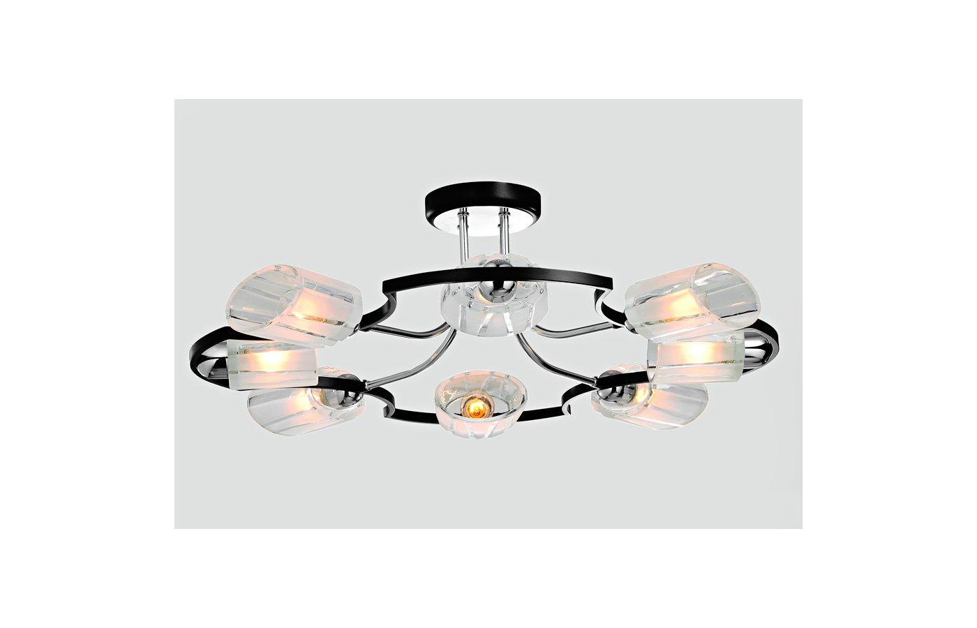 Декоративный светильник Rivoli Macaone-C-8xE14-40W-Chrome