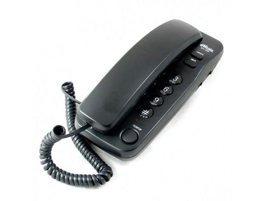 Проводной телефон Ritmix RT-100 черный