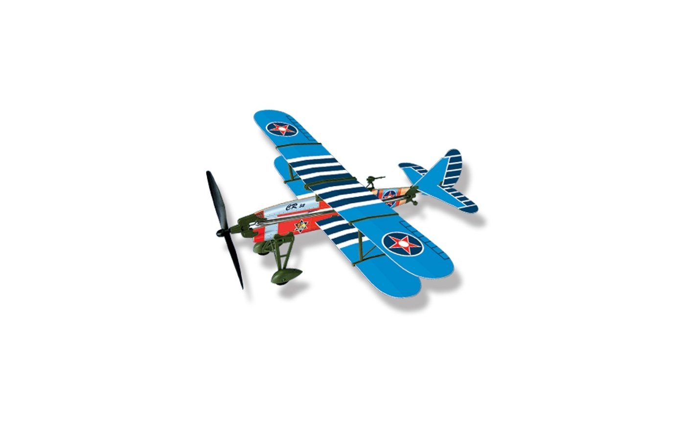 Машинка LYONAEEC 22004(E) Самолет с резиномотором History Plane CR.32 Airplane